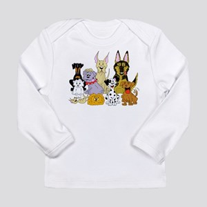 Cartoon Dog Pack Long Sleeve Infant T-Shirt